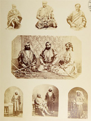 Plate VIII showing 'Male Attire. Cashmere Shawls, Chogas, &c.' from John Forbes Watson, The Textile Manufactures and the People of India, 1866. Reproduced courtesy of The Whitworth Art Gallery, The University of Manchester.